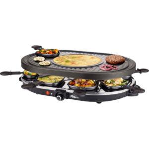 Goedkoop gourmetstel Princess Raclette 8 Oval Grill Party 162700