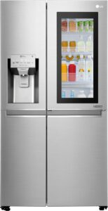 Indrukwekkende luxe koelkast LG GSX960NEAZ Instaview Door-in-door
