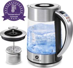 Glazen waterkoker met led verlichting Stashle® LED Glazen Waterkoker